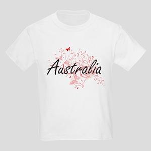 Australia Artistic Design with Butterflies T-Shirt