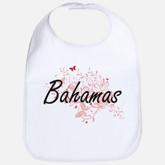 Bahamas Artistic Design with Butterflies Bib