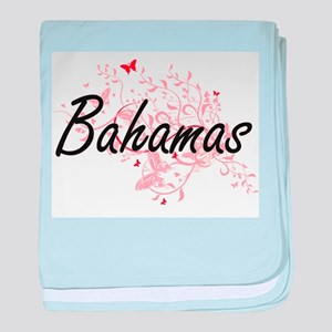 Bahamas Artistic Design with Butterfl baby blanket