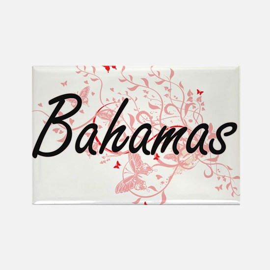 Bahamas Artistic Design with Butterflies Magnets