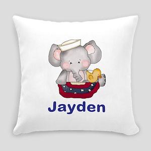 Jayden's Patriotic Elephant Everyday Pillow