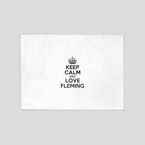 Keep Calm and Love FLEMING 5'x7'Area Rug