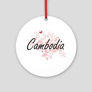 Cambodia Artistic Design with Butte Round Ornament