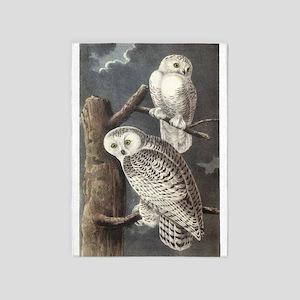 Snowy Owls 5'x7'area Rug