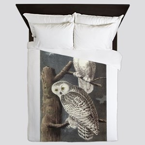 Snowy Owls Queen Duvet
