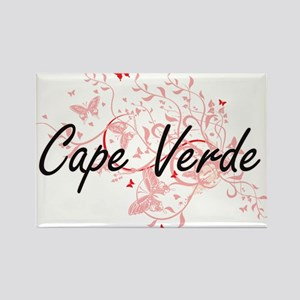 Cape Verde Artistic Design with Butterflie Magnets