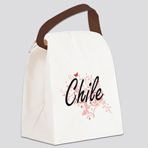 Chile Artistic Design with Butter Canvas Lunch Bag
