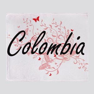 Colombia Artistic Design with Butter Throw Blanket