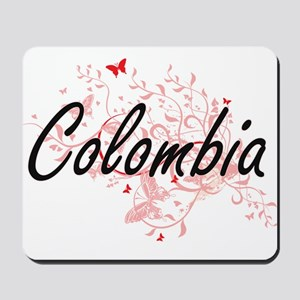 Colombia Artistic Design with Butterflie Mousepad