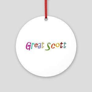 Great Scott Ornament (Round)