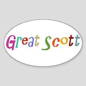 Great Scott Oval Sticker