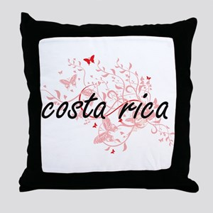 costa rica Artistic Design with Butte Throw Pillow