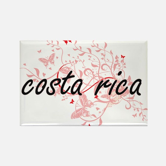 costa rica Artistic Design with Butterflie Magnets