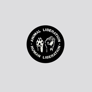 Animal Liberation Human Liberation Mini Button
