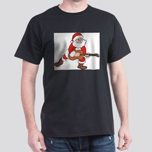 Santa w/ Guitar Ash Grey T-Shirt