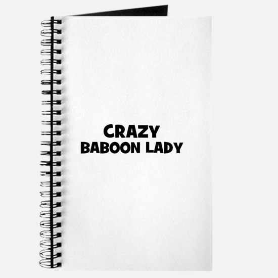 Crazy baboon lady Journal