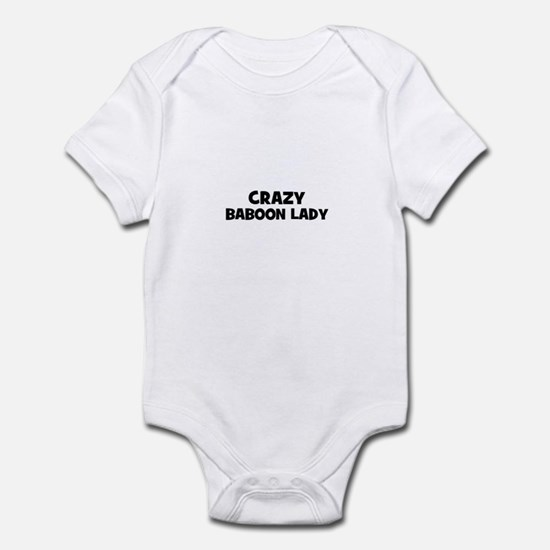 Crazy baboon lady Infant Bodysuit