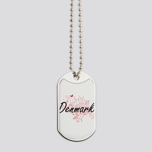 Denmark Artistic Design with Butterflies Dog Tags