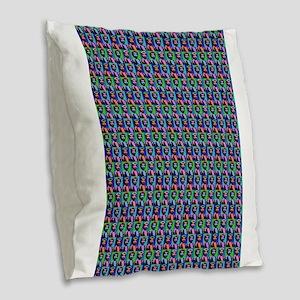 charles manson Burlap Throw Pillow