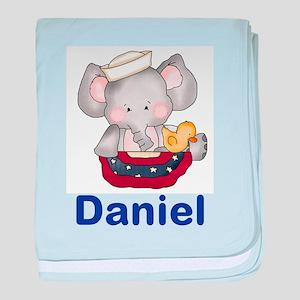 Daniel's Patriotic Elephant baby blanket
