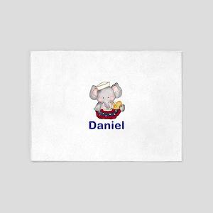 Daniel's Patriotic Elephant 5'x7'Area Rug