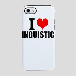I Love Linguistics iPhone 8/7 Tough Case