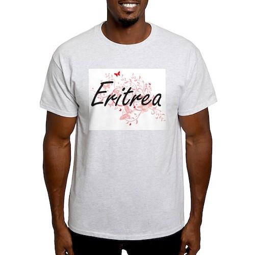 Eritrea Artistic Design with Butterflies T-Shirt