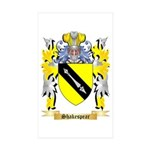 Shakespear Sticker (Rectangle 50 pk)