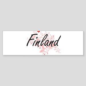 Finland Artistic Design with Butter Bumper Sticker
