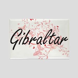Gibraltar Artistic Design with Butterflies Magnets