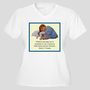 Truman Quote Women's Plus Size V-Neck T-Shirt