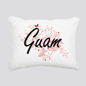 Guam Artistic Design wit Rectangular Canvas Pillow