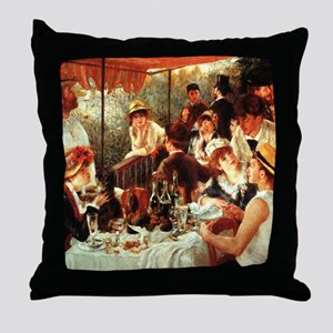 Renoir Boating Party Throw Pillow
