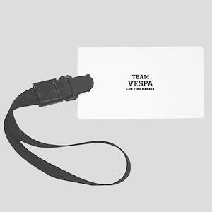 Team VESPA, life time member Large Luggage Tag