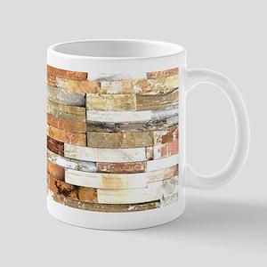 orange stone brick mosaic Mugs