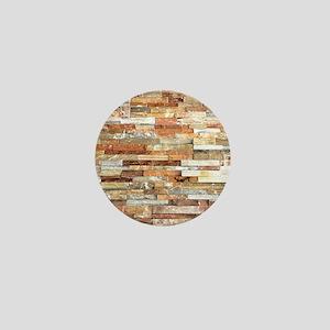 orange stone brick mosaic Mini Button