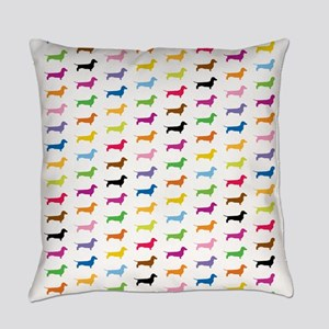Colorful Dachshunds Everyday Pillow