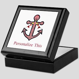 Personalized Nautical Anchor Keepsake Box