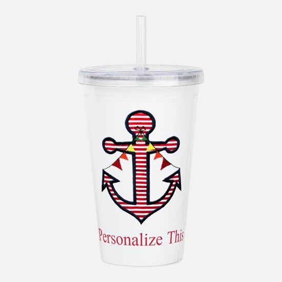 Personalized Nautical Anchor Acrylic Double-wall T
