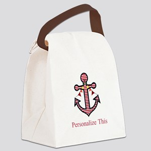 Personalized Nautical Anchor Canvas Lunch Bag