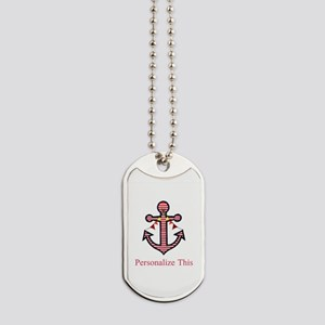 Personalized Nautical Anchor Dog Tags