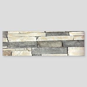 beige grey stone contemporary Bumper Sticker