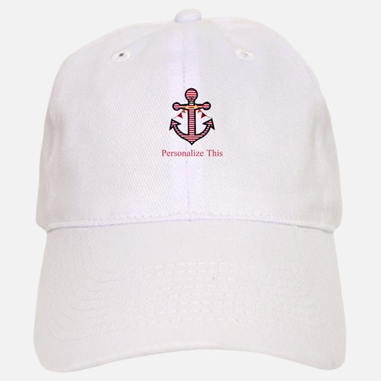 Personalized Nautical Anchor Baseball Baseball Baseball Cap