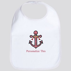 Personalized Nautical Anchor Baby Bib
