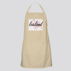 Iceland Artistic Design with Butterflies Apron