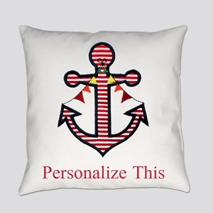 Personalized Nautical Anchor Everyday Pillow