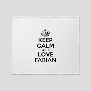 Keep Calm and Love FABIAN Throw Blanket