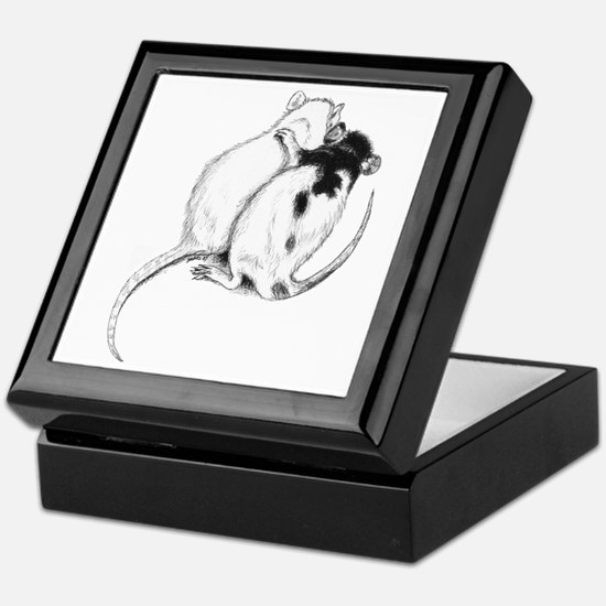 Rat Hug Keepsake Box