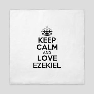 Keep Calm and Love EZEKIEL Queen Duvet