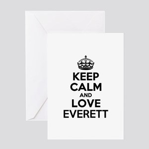 Keep Calm and Love EVERETT Greeting Cards